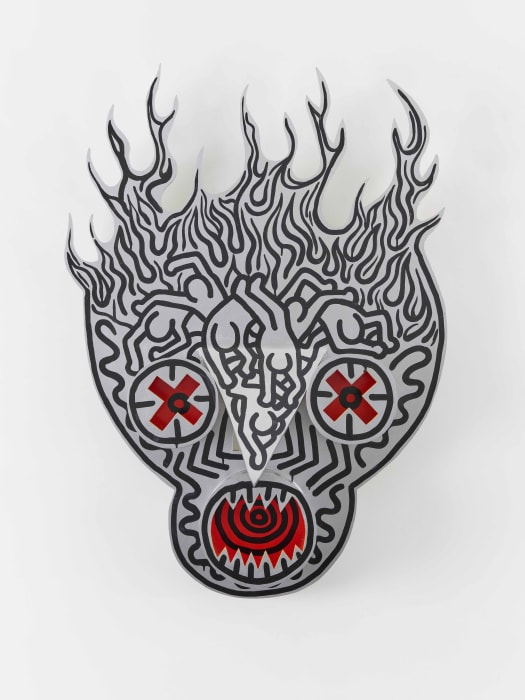 Untitled (Burning Skull) by Keith Haring