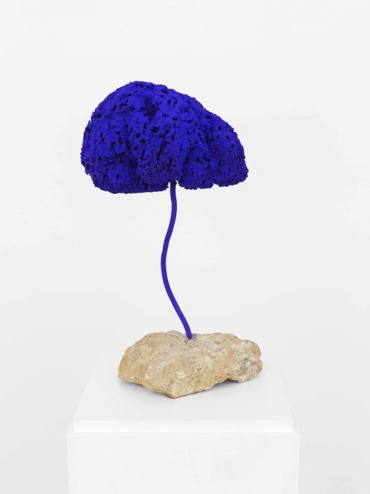 Untitled Blue Sponge Sculpture (SE 238) by Yves Klein