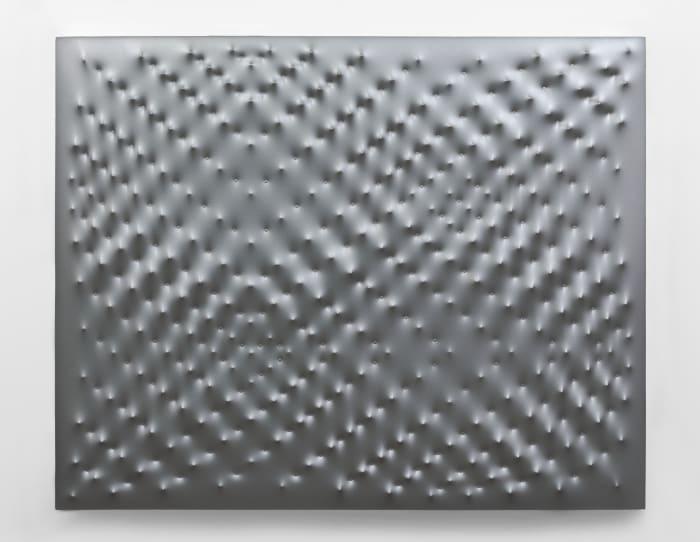 Superficie argento by Enrico Castellani