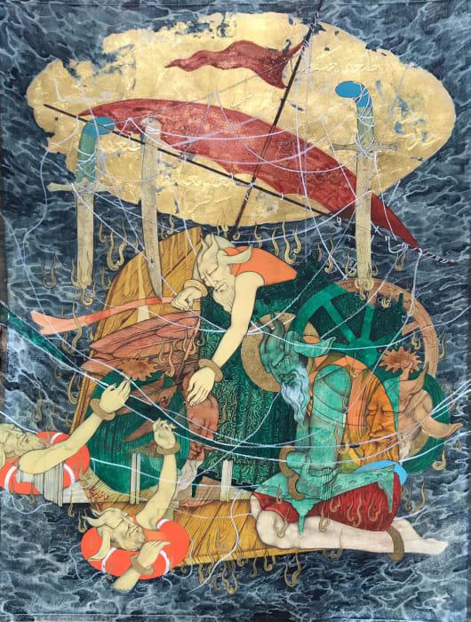 The Arrival III by Khadim Ali