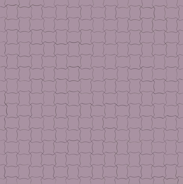 Color Code of a World Political Map, Little Fat Flesh Puzzled Face (White Purple) by Inga Svala Thorsdottir and Wu Shanzhuan