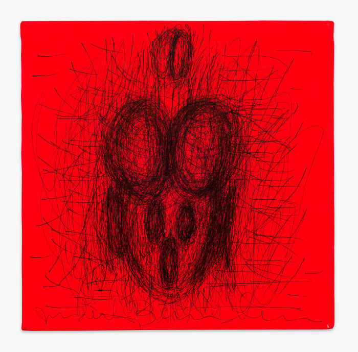 Active Figuration Fluorescent by Judith Bernstein