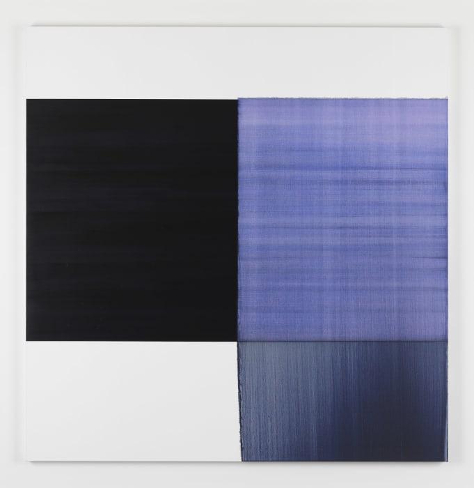 Exposed Painting Bluish Violet by Callum Innes