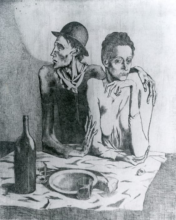 Le Repas Frugal by Pablo Picasso