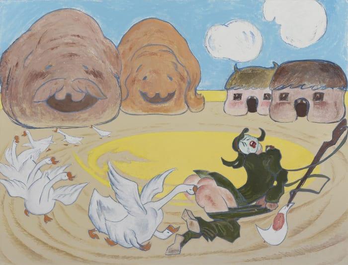 The Divine Anti-Japanese Goose No. 2 by Wang Xingwei