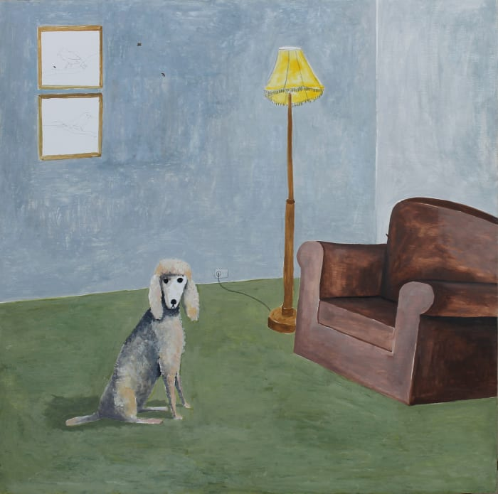 Room with Poodle by Noel McKenna