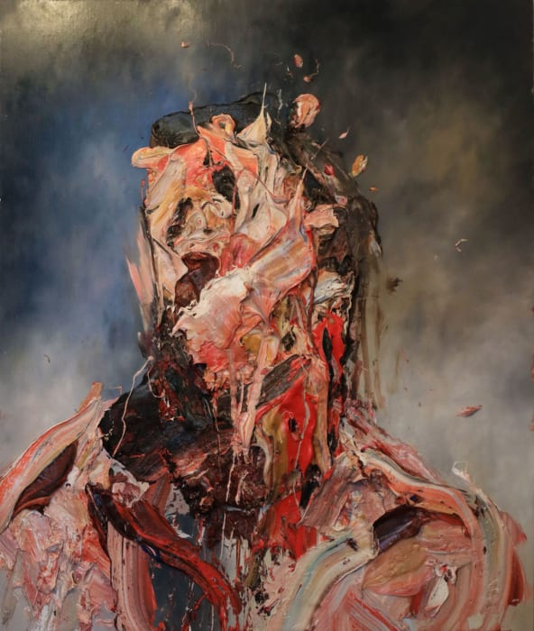 Self-Portrait with Red by Antony Micallef