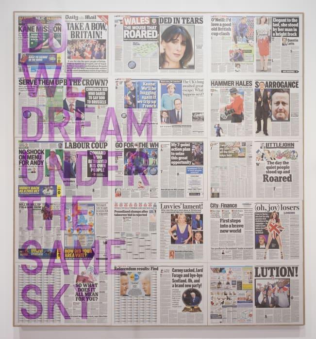 untitled 2016 (do we dream under the same sky, daily mail, june 25, 2016 by Rirkrit Tiravanija
