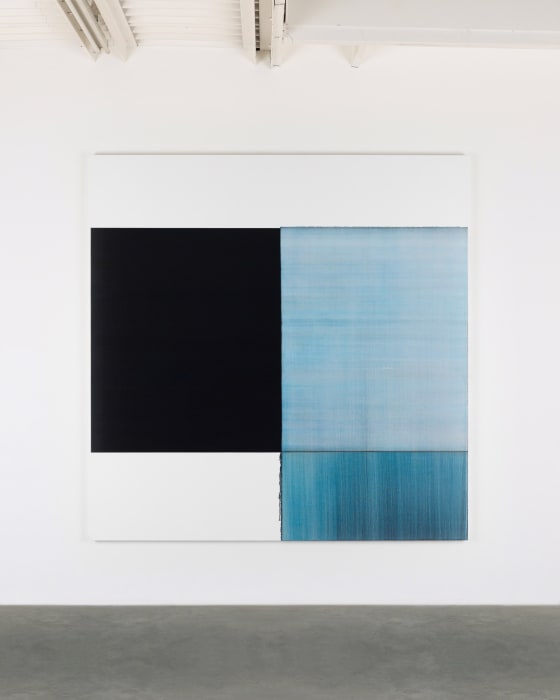 Exposed Painting Prussian Blue by Callum Innes