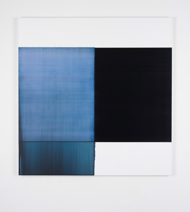 Exposed Painting Oriental Blue by Callum Innes