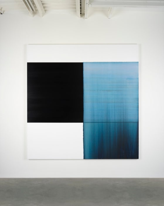 Exposed Painting Delft Blue by Callum Innes