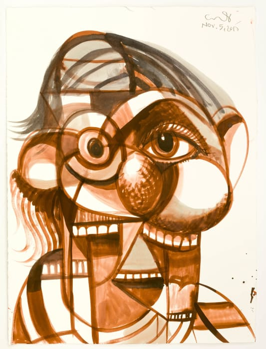 Laughing Portrait by George Condo