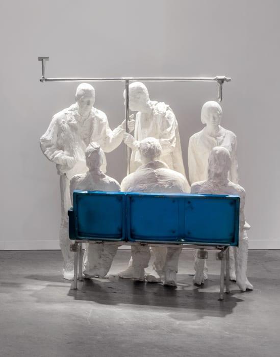 Bus passengers by George Segal