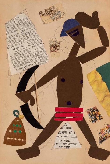 Man with Stringed Bow by Benodebehari Mukherjee