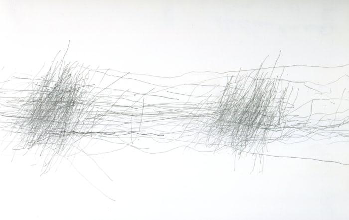 Untitled (Subway Drawing, 4.4.97) by William Anastasi