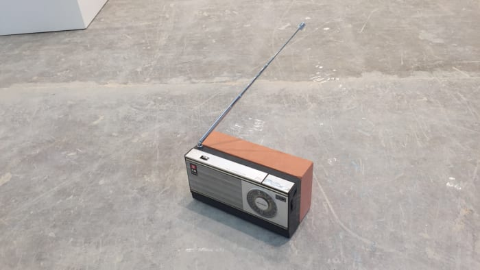 Radio and Brick by Wilfredo Prieto