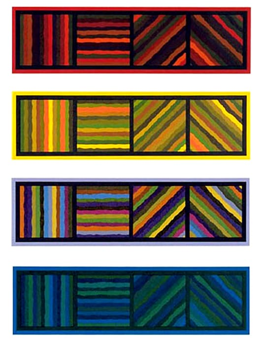 Bands (Not Straight) in Four Directions by Sol LeWitt