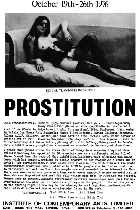 Prostitution by Cosey Fanni Tutti