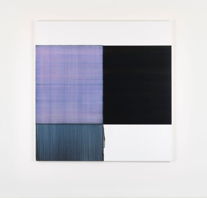 Exposed Painting Blue Violet by Callum Innes