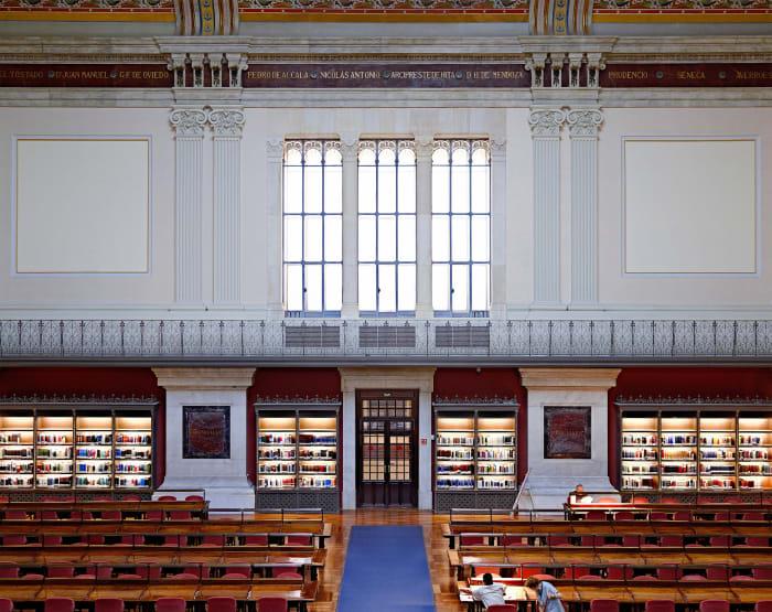 Biblioteca Nacional de España Madrid V by Candida Höfer