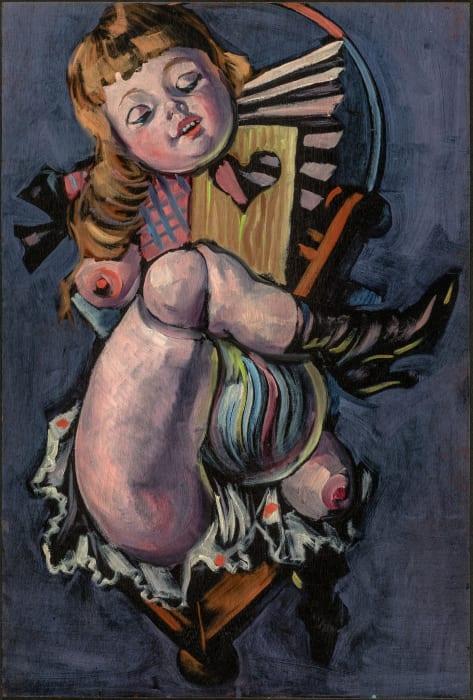 Die Puppe / Die Glasmurmel (double sided) by Hans Bellmer