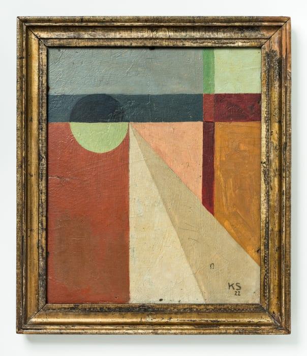 Abstraktion 45, Kugelkleid by Kurt Schwitters