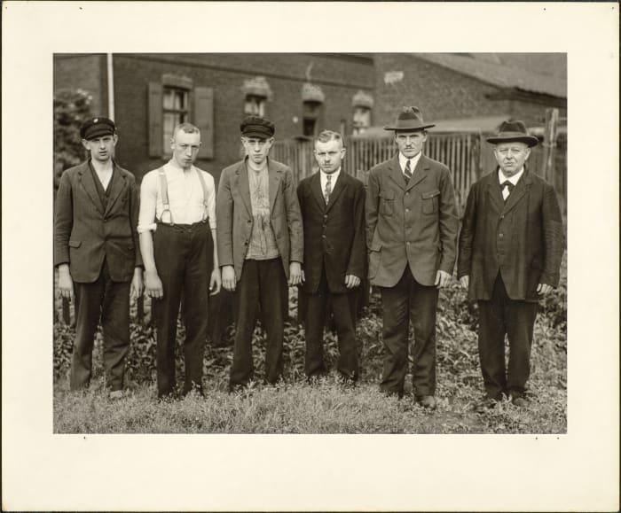 Worker´s council from the Ruhr area, 1929 by August Sander