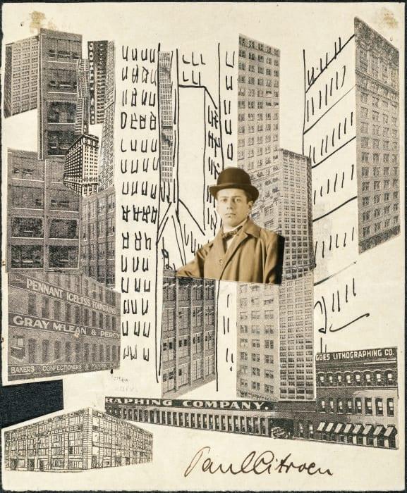 Metropolis self portrait by Paul Citroen