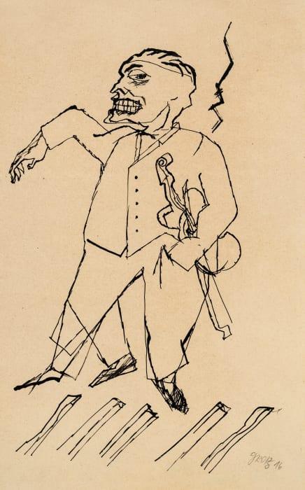 Violinist by George Grosz
