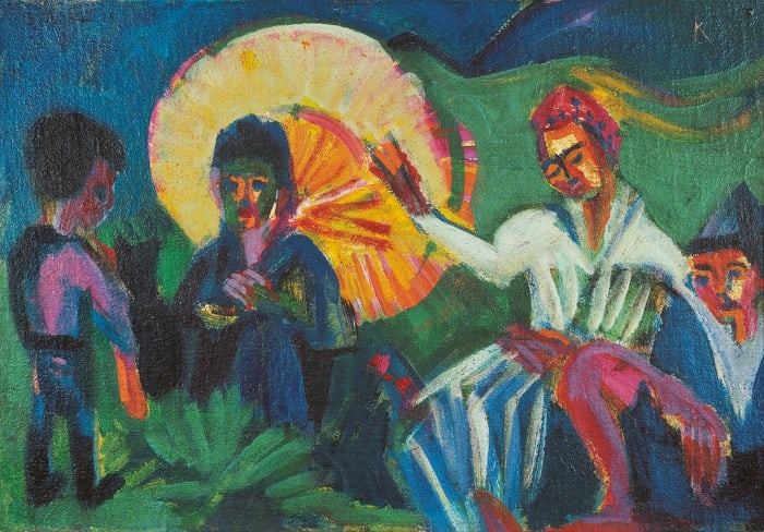 Rastende Spaziergänger by Ernst Ludwig Kirchner