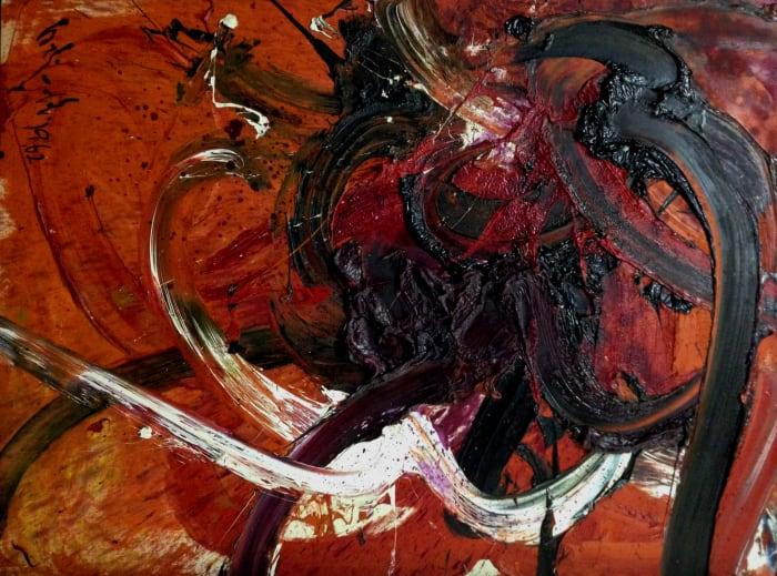 untitled (BB40) by Kazuo Shiraga