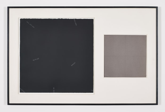 Untitled (diptych) by Robert Barry