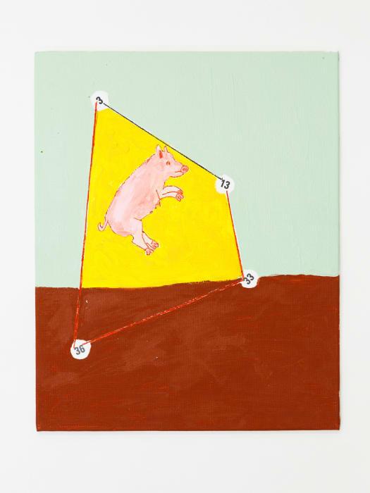 Pig, Trapeze, Numbers by Mladen Stilinović