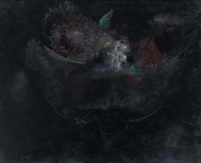 Bouquet de fleurs noires by Jean Fautrier