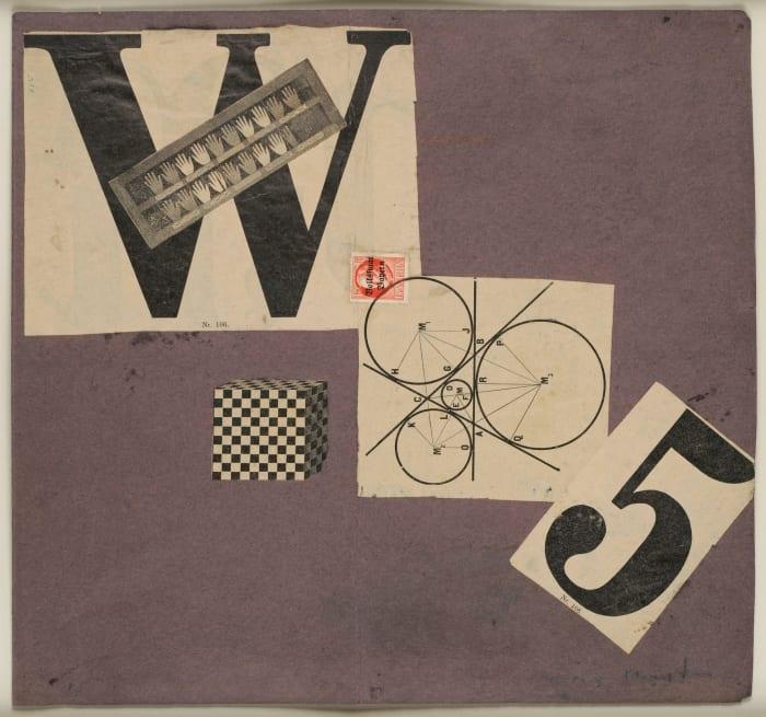 Manifeste W 5 (Weststupidien 5) III. Manifesto, jacket maquette by Max Ernst