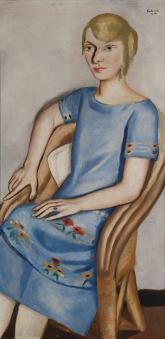 Portrait of Irma Simon/Bildnis Irma Simon by Max Beckmann