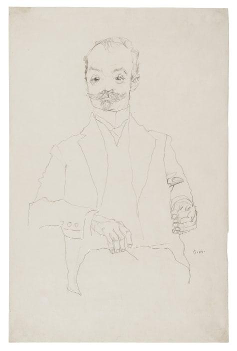 Der Drucker Sigmund Rosenbaum/The Printer Sigmund Rosenbaum by Egon Schiele