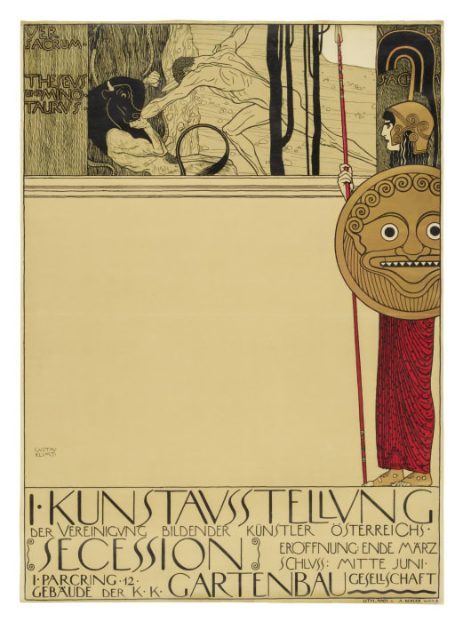 Poster for the First Exhibition of the Vienna Secession/Secession 1. Ausstellung. Plakat by Gustav Klimt