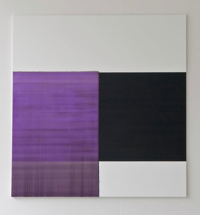 Exposed Painting Scheveningen Black / Red Violet by Callum Innes