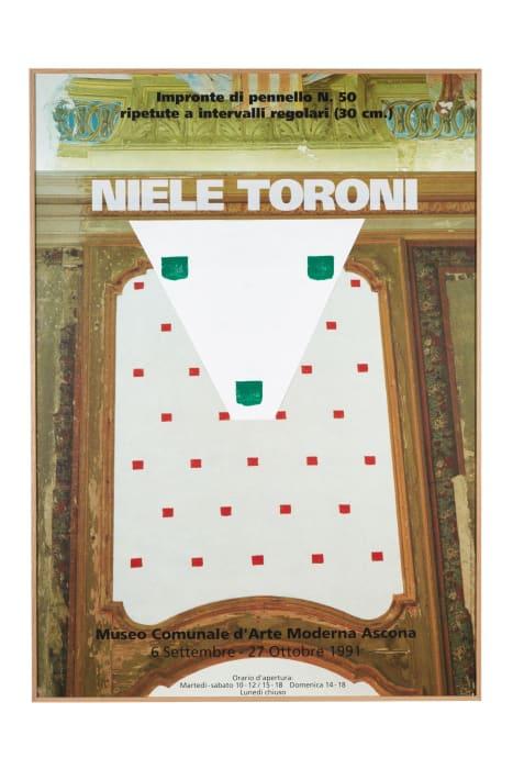 """Serie: """"Quand les empreintes de pinceau n° 50 s'affichent sur leur affiche"""" by Niele Toroni"""