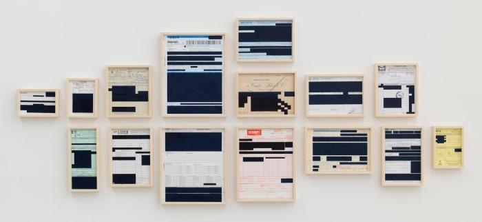 Bureaucratic Paintings (Frango Assado RFA) from the series 'Bureaucratic Abstractions' by Marcius Galan
