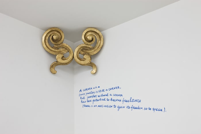 Cornered Beauty #7 (A corner with fancy jewelry ...) by Nedko Solakov