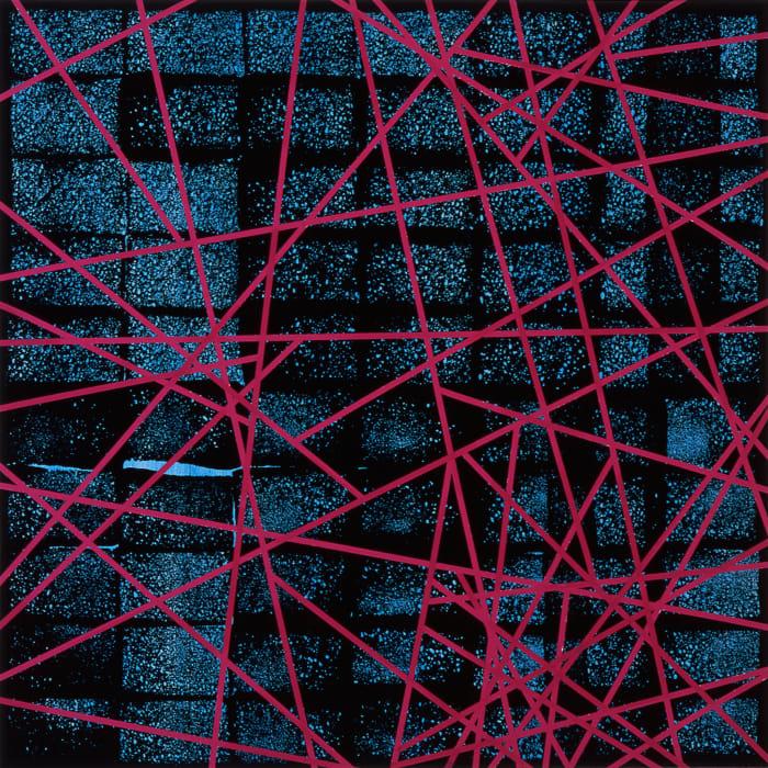 Untitled (network painting) by Herbert Hinteregger