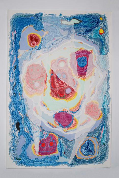 Unstable Talismanic Rendering [Poliʻahu's Cure] with gratitude to master marbler Dirk Lange by Kerstin Brätsch