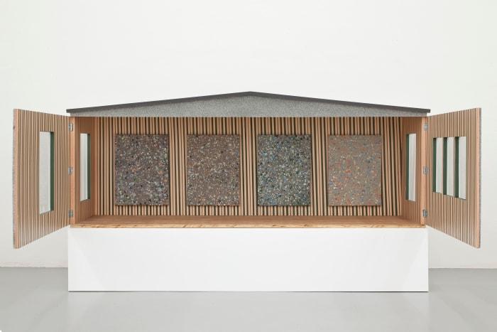 Untitled (Grey granite) by Fredrik Værslev