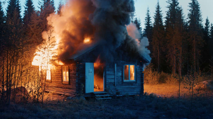 Scenes from Western Culture, Burning House by Ragnar Kjartansson
