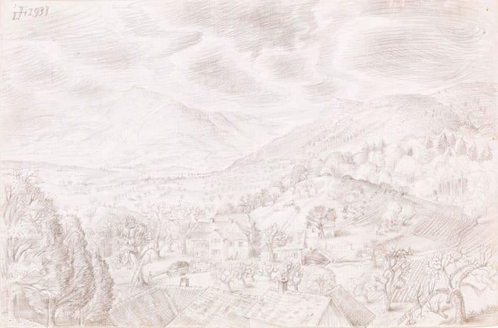 Herbstlandschaft bei Randegg by Otto Dix