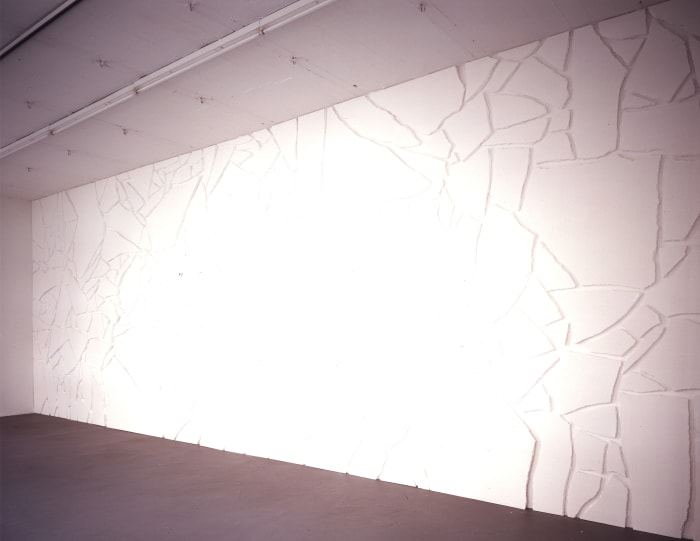 White Styrofoam on White Wall by Sol LeWitt