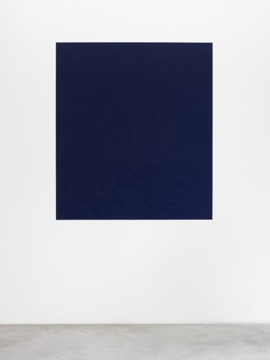 Oltremare appare  (Ultramarine blue appears towards overseas) by Giovanni Anselmo