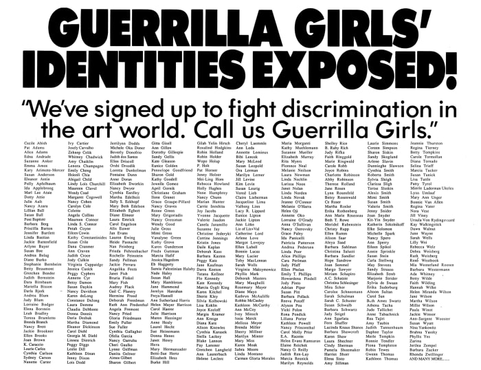 Guerrilla Girls' Identities Exposed! by THE GUERRILLA GIRLS